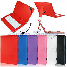 "Universal USB Keyboard Leather Case Cover For 10"" 10 Inch Android Windows Tablet"