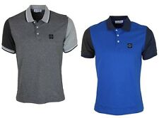 MENS POLO TSHIRT FORAY FORD SHORT SLEEVE DESIGNER TOP BLUE GREY S - L RRP £39.99