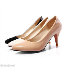 Women's High Heels Pointed Toe Shoes Synthetic Leather Pumps AU Size 2~13.5 D811