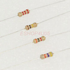 500 pcs 1/4W 0.25W 5% Carbon Film Resistors resistor Range of 43K-390K ohm New