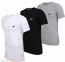 Nike Mens Chest Pocket Black White Grey Crew Cotton T-Shirt Tee Top Sport Casual