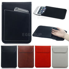 "Vogue PU Leather Slim Travel Stand Case Bag for Most 7"" Tablet With wrist strap"