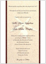 Starfish & Seashell Beach Wedding Invitations, Customized, Any Color, Set of 10