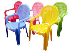 Kids Children's Strong Plastic Childrens Chair Duck Design Chairs Colour Choice