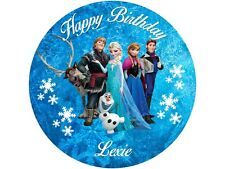 """7.5"""" FROZEN EDIBLE PERSONALISED CAKE TOPPER ON ICING / WAFER PAPER"""