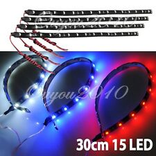 Tira 15 Led SMD 3528 30cm Flexible Waterproof Coche Barco Acuario Impermeable