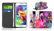 Leather Wallet Case Cover Flip Card Holder Colourful Designs For All Phones