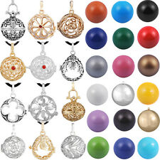 Flower cage mexican bola pendant 18k gold silver pendant chiming ball necklace