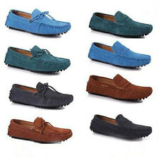 2013 Real Nubuck Cow Leather Driving Moccasin Loafer Shoes US Size 6.5-10