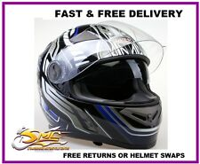 **NEW LAUNCH** Viper RS-V9 Dimension Blue Black Motorcycle Motorbike Helmet