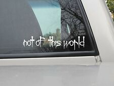 Not of this World Nails Sticker Vinyl NOTW Nails Sticker You Choose Size/Color