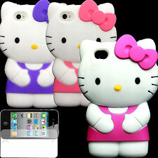 Case Apple iPhone 4S 4 S G Cover Skin Silicone Screen Protector Gen Hello Kitty