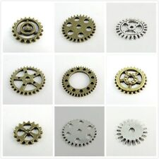Mix Style Antiqued Bronze Silver Alloy Wheel Gear Charms Pendant Finding Hot
