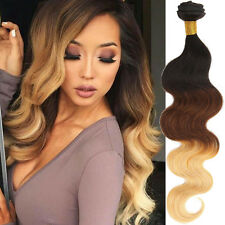 100% UNPROCESSED Ombre Brazilian Virgin Hair Extensions Body Wave 1b33#27# 50g