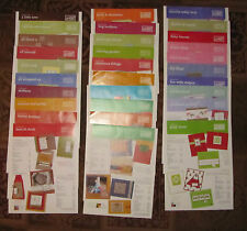 Stampin' Up!  Inspiration Sheets.  U-Pick! Titles H- R
