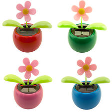 Dancing Daisy Solar Powered Flip Flap Toy New Flower Bobble Plant Pot Swing Toy