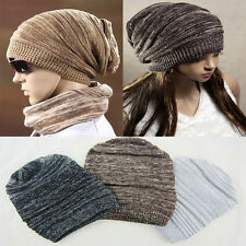 HOT Unisex Womens Mens Knit Baggy Beanie Beret Hat Winter Warm Oversized Ski Cap