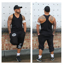 Mens Plain Gym Vest Bodybuilding Muscle Clothing RacerBack Stringer Ladies Ibiza