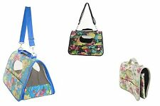Sequin Flower Floral Pet Carrier Dogs/Cats/Animals Bling Mesh Windows Sturdy