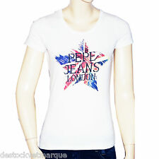 PEPE JEANS t shirt SISI manches courtes blanc femme
