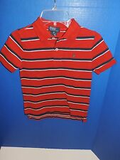 NWT Polo White Navy Blue Red Striped Collared Baby Boys Shirt All Sizes
