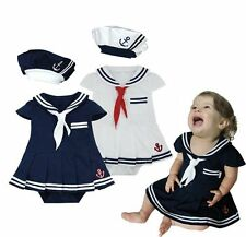 Baby Girl Sailor Dress Christmas Party Costume Suit Outfit Cloth Gift Set 3-24M