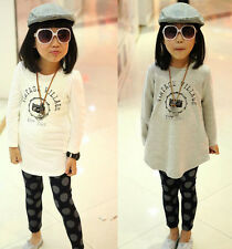 New 2014 Spring Autumn Kids Print Tops Girl Long Sleeve Girls T shirt 2-6 Years