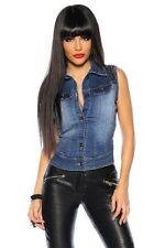 Jeans Denim Vest With Skull (13267)98% Cotton, 2% Elastic, AO, Gilets & Bodywarm