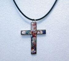 mossy oak breakup true timber real tree ap camo cross necklace choker pendant