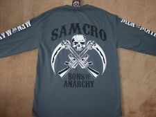 Sons of Anarchy MEN OF MAYHEM 2-Sided Graphic Long Sleeve T-Shirt Licensed SOA