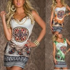 NEW Ladies Summer Sexy Sleeveless Casual Party Evening Cocktail Short Mini Dress