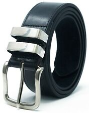 Mens Ossi® Black Brown Tan Leather Lined Jeans Belt All Sizes Available