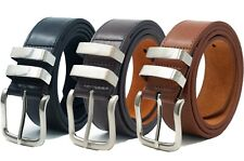"""Mens Ossi® Black Brown Tan Leather Lined Jeans Belt All Sizes Available 32 - 60"""""""