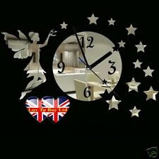 3D Modern Mirror Clock Stickers,Give Your Plain Walls a Lovely Voice-195