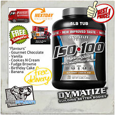 DYMATIZE ISO 100 5LB 2.29KG WHEY PROTEIN ISOLATE WPI HYDROLYZED 6 FLAVOURS