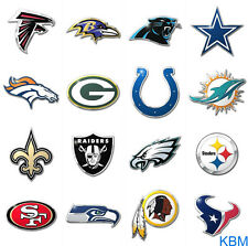 *NFL* Metal COLOR Chrome Finish AUTO Decals- Licensed NEW Choose your Team