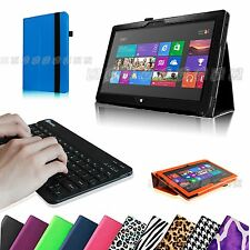 "For Microsoft Surface Pro Pro 2 10.6"" Leather Case Cover + Bluetooth Keyboard"