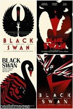 Black swan ballet Poster art deco  glossy Photographic print A4 or A5 size