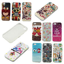New Pattern Beautiful Soft Rubber TPU Back Protect Skin Glossy Skin Case Cover