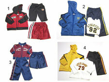 Baby Boy 3 Pc Warm-up Track Suit Hooded Pants Jacket outfit Set 12 months