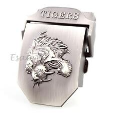 Womens Mens Alloy Steel Tiger Waistband Belt Buckle Solid Fashion