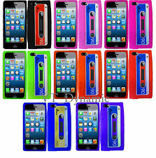 iPhone 5 Retro Cassette Soft Silicone Skin Cell Phone Case Cover Accessory 5G