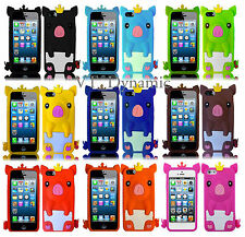 for iPhone 5 Cute Baby Princess Pig Soft Silicone Skin Cell Phone Case Cover 5G