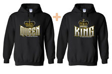 Cute Couple Hoodies King and Queen Cute Love Funny Couple Mr. Mrs. For Her
