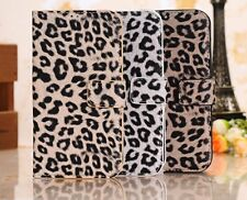 Leopard Print Pattern Leather Case Cover Protector For Samsung Galaxy S4 SIV 4G