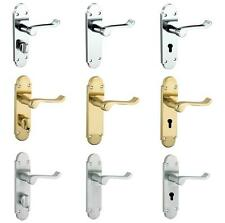 Epsom Shaped Scroll Lever Door Handles On Backplate For Latch Lock and Bathroom