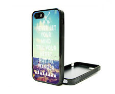 Apple iPhone 5 5S or 4G 4S 4 Fitted Case Skin Cover Cute Wanderlust Quote Beach