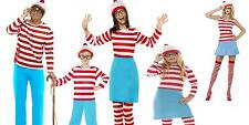 Unisex Men Women Licensed Wheres Wally Nerd Geek Wenda Cutie Fancy Dress Costume