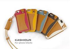 Luxury Slim Leather Sleeve Case Cover with Neck Strap for iPhone 5 and iphone 5S