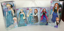 Disney Store Frozen Anna Elsa Classic Soft Plush Musical Skating Doll Xmas Gift